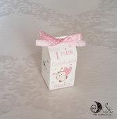 Portaconfetti milk box primo compleanno bimba gadget coccinella