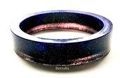 Bracciale Resina Universo Stelle Pianeti Nebulose Taglia L 72 mm Diametro Boho Chic Bangle Artigianale Braccialetto Cerchio Rigido
