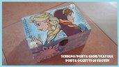 """Scrigno/Porta Gioie/Trousse in legno dipinto a mano con acrilici a tema """"Frozen"""""""