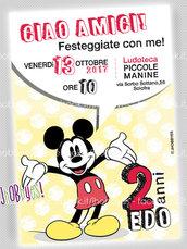 Invito digitale Mickey Mouse