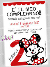 Invito digitale MINNIE MOUSE