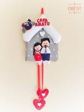 Idea regalo festa della mamma ritratto famiglia personalizzato con nome