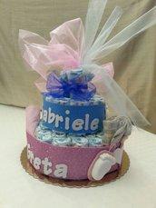 Torta pannolini per regalo nascita bebè
