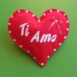 """Cuscino """"soffice cuore"""", San Valentino, idee regalo."""