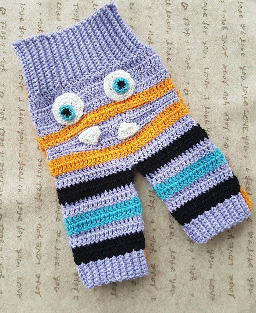 pantaloni Monster in lana