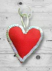 """Portachiavi """"love Keys"""" con paillettes, idee regalo per San Valentino."""