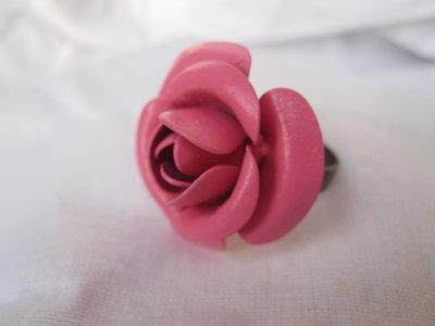 anello OLD TIMES fiore metallo rosa