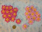 10 fiorellini vari colori ad uncinetto