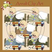 Fai la Nanna - Bimbo Biondo - Clip Art per Scrapbooking e Decoupage - Immagini