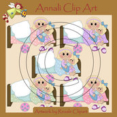 Fai la nanna - Bimba Bionda - Clip Art per Scrapbooking e Decoupage - Immagini