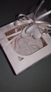Bomboniera prima comunione medaglione angelo gessetto profumato