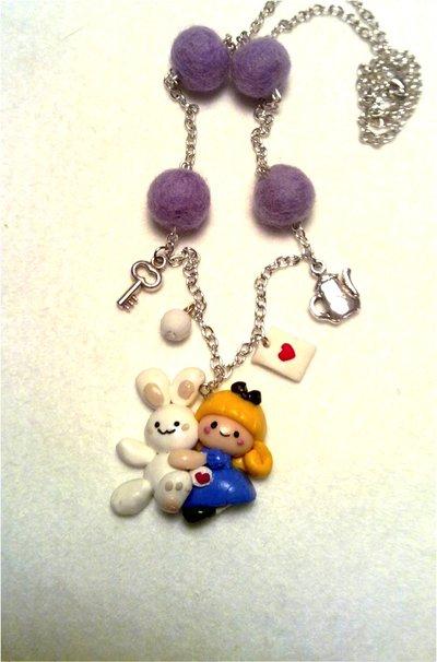 Collana Alice e Coniglietto