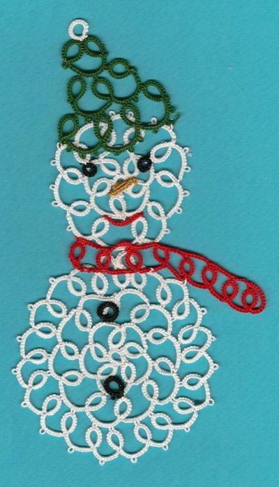 CHIACCHIERINO - TATTING - FRIVOLITE' - SNOWMAN