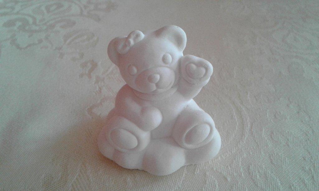 Bomboniera fai date - grezzo in polvere di ceramica - Orsetta