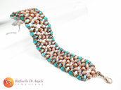 BRACCIALE TEAL AND COPPER Adriana 02