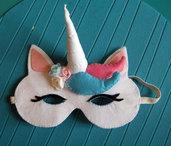 maschera unicorno 1 - unicorn mask - feltro - felt - fantasy