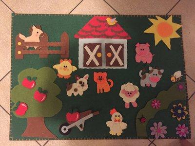 Pannello gioco fattoria Montessori