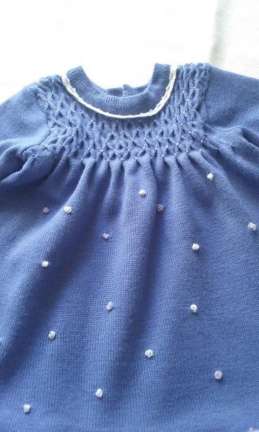 vestito abito bimba lana o cotone maglia