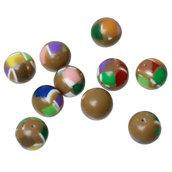 Lotto Stock 10 Perle perline tonde a colori spaziatori divisori 8 mm