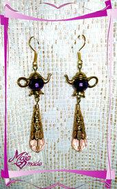 """Orecchini """"Oriental Rose"""" - gocce di cristallo + pietre sfaccettate"""