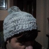 berretto unisex grigio