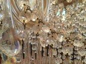 Gocce, ricambi in vetro per lampadari Maria Teresa o Venini, con un lunghezza di 10 cm