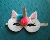 maschera unicorno 2 - unicorn mask - feltro - felt - fantasy