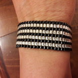 braccialetto argento e nero