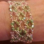 braccialetto verde rosa oro