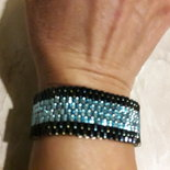 braccialetto celeste e blu