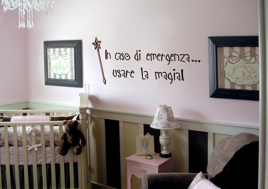 Frase magica decorativa per camerette