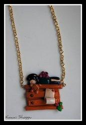 collana cassettiera kawaii fimo