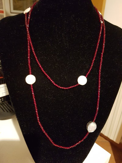 COLLANA IN CONTERIA BORDEAUX
