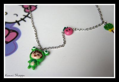 kawaii doll frog necklace