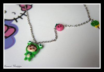 kawaii doll frog necklace