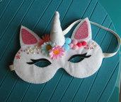 maschera unicorno 3 - unicorn mask - feltro - felt - fantasy