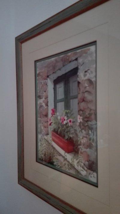 Finestra acquerello su carta