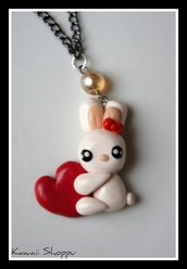 kawaii rabbit love nacklace