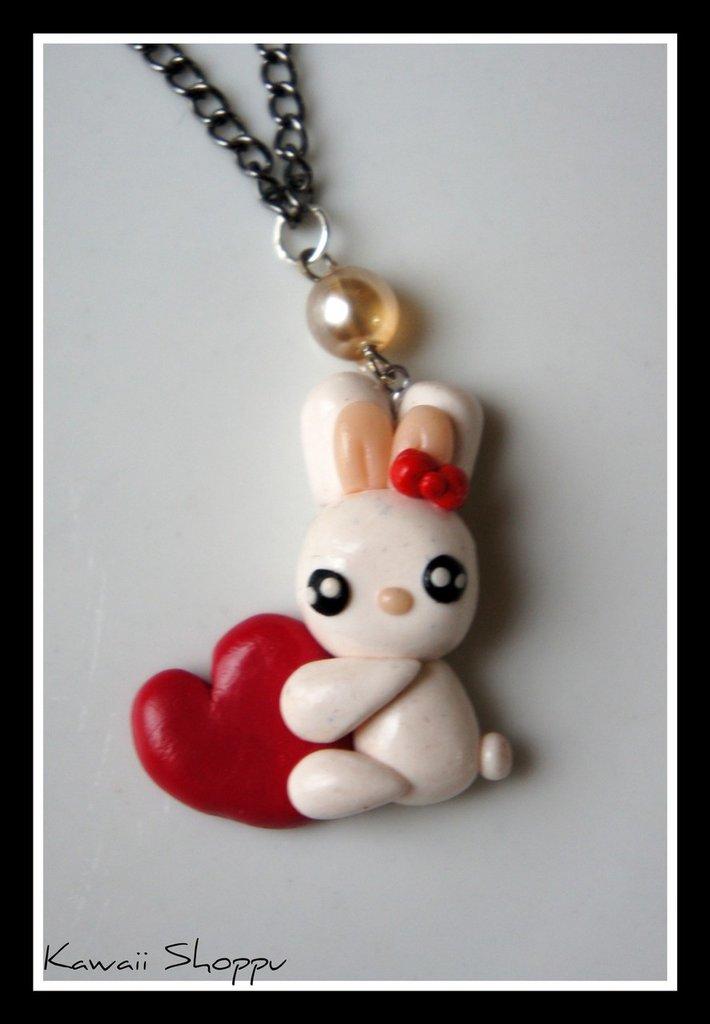 kawaii rabbit love nacklace