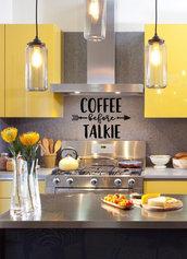 Adesivo per cucina Coffee before