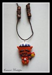 kawaii indigenous fimo necklace