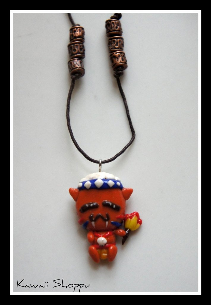 kawaii indigenous fimo necklace
