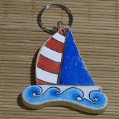 Portachiavi a forma di barca a vela
