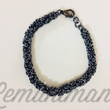 #bracciale #chainmail #black ice