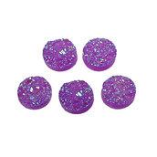 Lotto Stock 10 cabochon  decorativi in resina  con glitter  Dimensioni: 12 mm