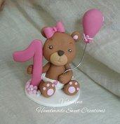 Cake topper orso  orsetto Primo Compleanno