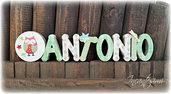 Antonio - Nome 3d - Decorazione per cameretta bimbi