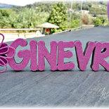 Ginevra, Nome 3d, Decorazione per cameretta bimba, regalo bambina, lettere decorate