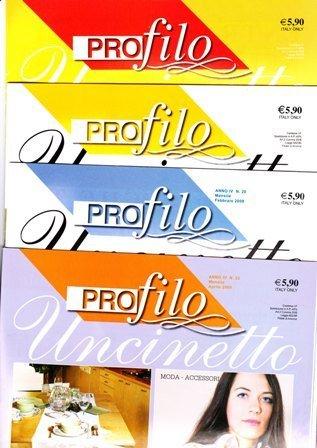 gruppo di 8 riviste Profilo Uncinetto