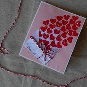 Biglietto innamorato per San Valentino • Una busta piena di cuori